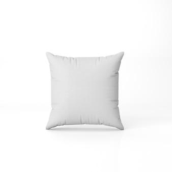 Set di cuscino bianco isolato