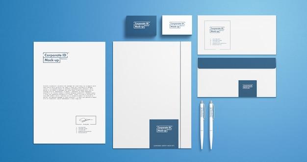 Set di elementi decorativi di identità aziendale branding