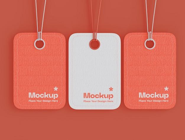 Set di etichette prezzo tag mockup
