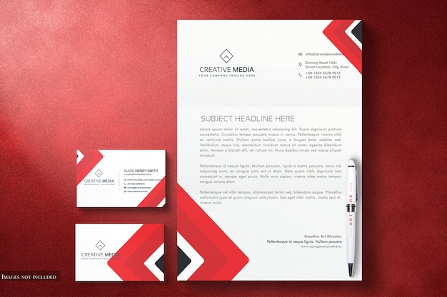 Set di mockup di cancelleria di identità minimale per la tua presentazione di design professionale