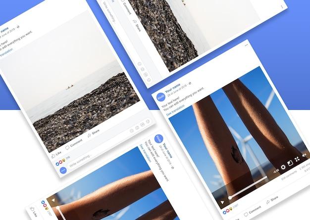 Set di modelli di cornici per foto della rete sociale