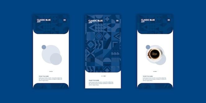 Set de flyers color del año 2020