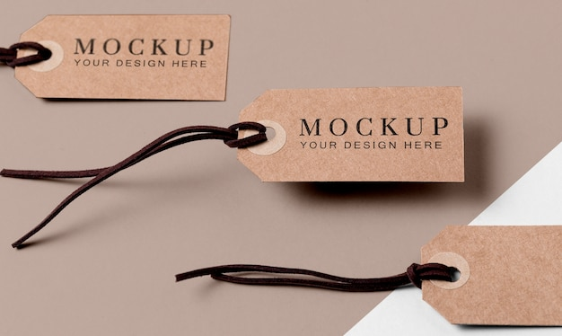 Set kleding mock-up tags