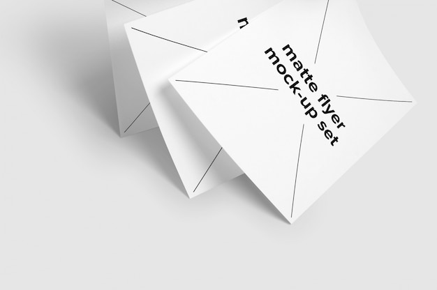 Set de mock up de folletos cayendo