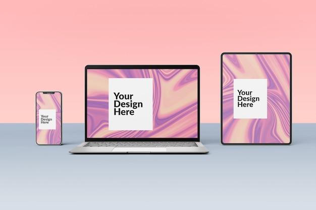 Set van digitale apparaten