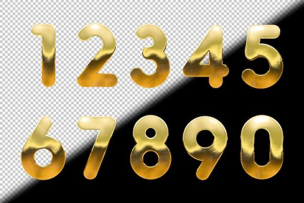 Set van gouden cijfers