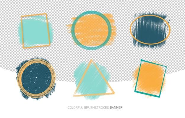 Set van grunge abstracte frames