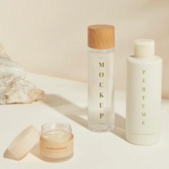 Set van huidverzorgingspakketontwerp