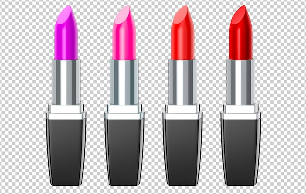 Set van rode, roze, violet, wijn lipsticks