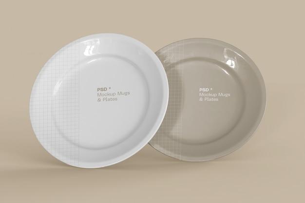 Set van twee platen mockup