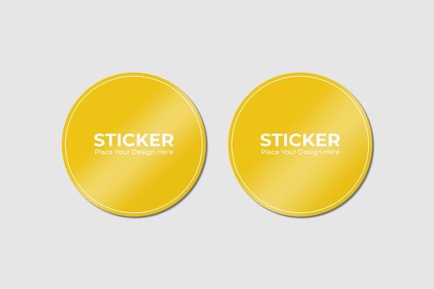 Set van twee zelfklevende stickers mockup