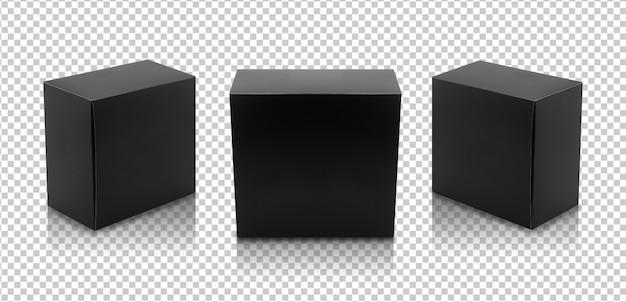 Set van zwarte dozen