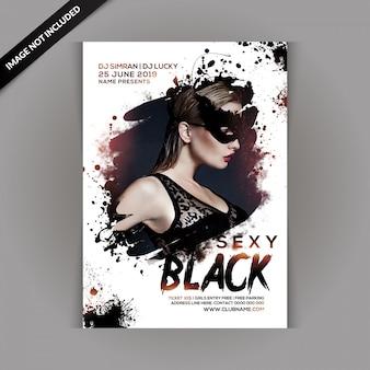Sexy zwarte feestvlieger