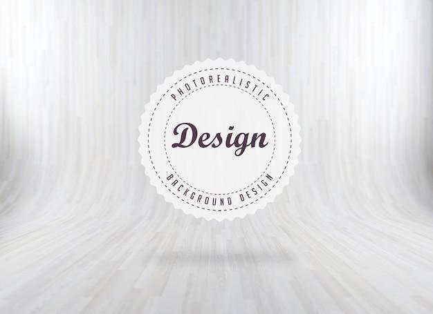 Sfondo bianco di legno realistico