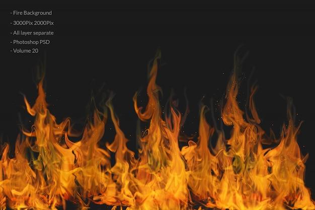 Sfondo di fiamme di fuoco