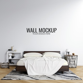 Sfondo di interni camera da letto mockup