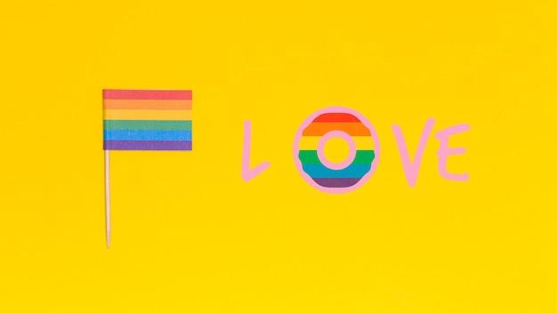 Sfondo gay pride con elementi