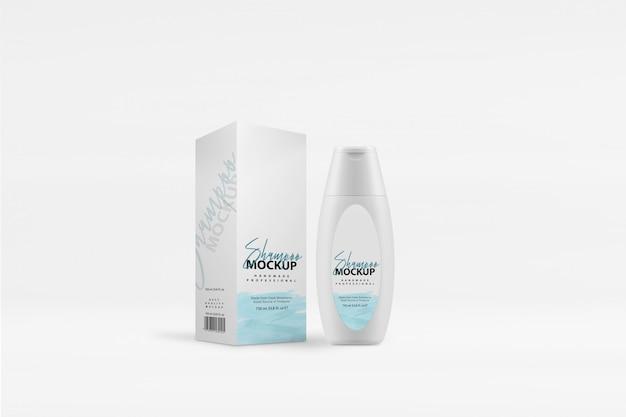 Shampoo box mockup