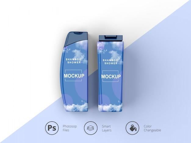 Shampoo fles mockup psd-bestand