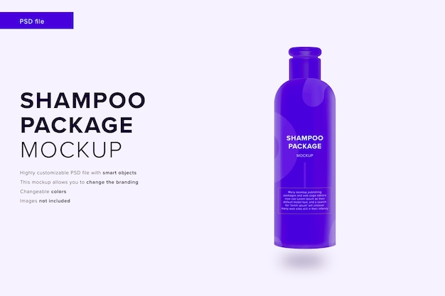Shampoo pakket mockup in modern design stijl mockup