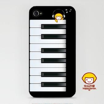 Shell iphone con forma de piano de
