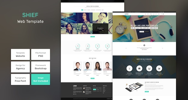 Shief-services en marketingwebsjabloon