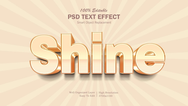 Shine text effect-sjabloon