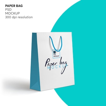Shopping bag di carta mockup