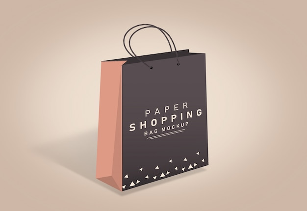 Shopping bag mockup sacchetto di carta mockup marrone shopping bag