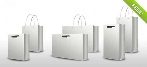 Shopping bag set psd
