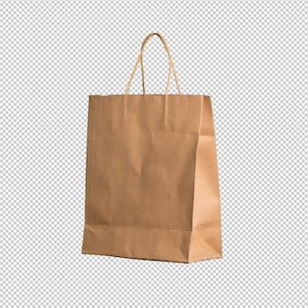 Shopping bag su sfondo bianco
