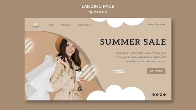 Shopping landing page di vendita estiva
