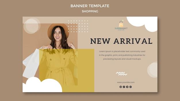 Shopping modello di banner nuovo arrivo