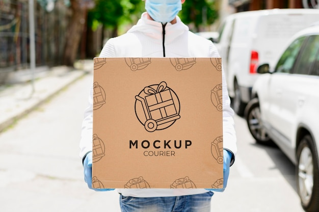 Shopping online concetto mock-up