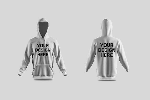 Showcase van hoodie mockup-ontwerp geïsoleerd