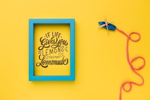 Si la vida te da limones, haz limonada, lettering o frase motivadora e inspiradora
