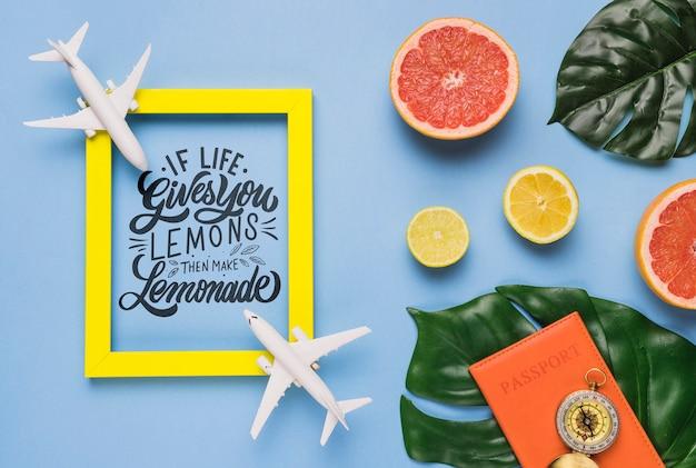 Si la vida te da limones, haz limonada, lettering o frase motivadora