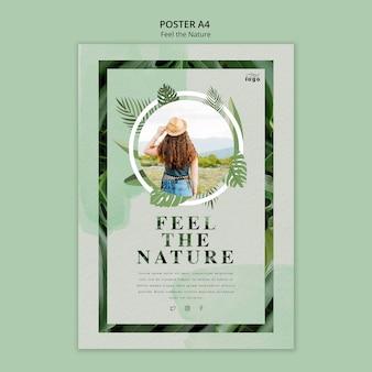 Siente la naturaleza poster