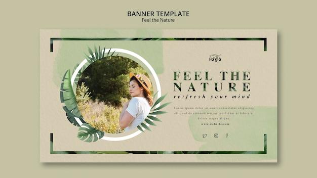 Siente el tema de la bandera de la naturaleza