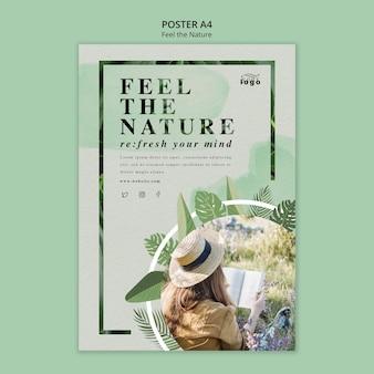 Siente el tema del póster de la naturaleza
