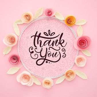 Sier bloemenframe met bericht