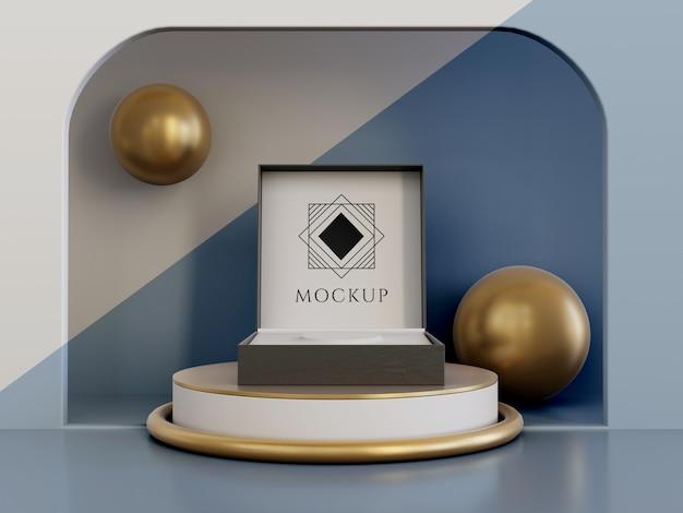 Sieradenverpakkingen display mock-up