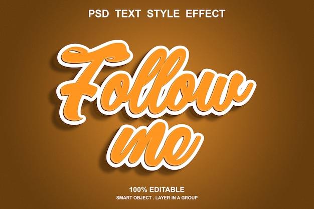 Sígueme efecto de texto editable