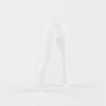 Silueta blanca de pantalones