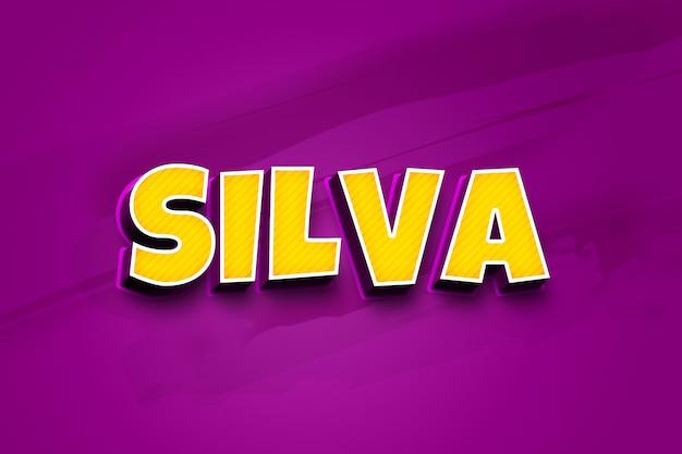 Silva - 3d-tekststijleffect psd