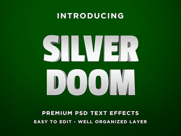 Silver doom effetto testo 3d
