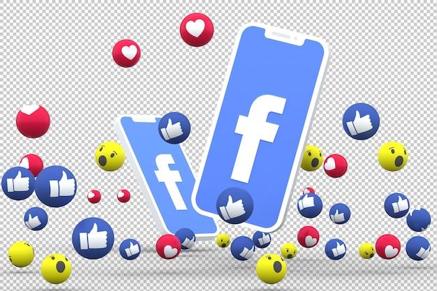 Símbolo de facebook en la pantalla del teléfono inteligente