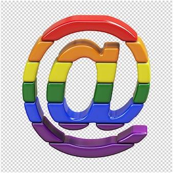 Símbolo hecho con los colores de la bandera lgbt