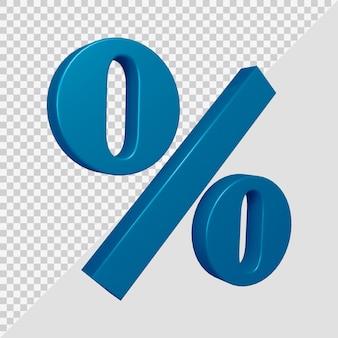 Símbolo de porcentaje en render 3d