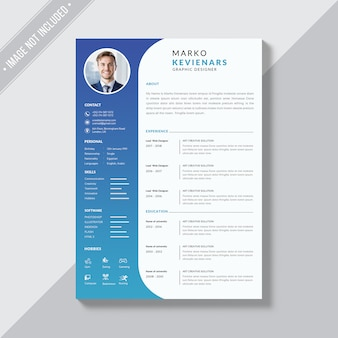 Simple curriculum vitae themplate